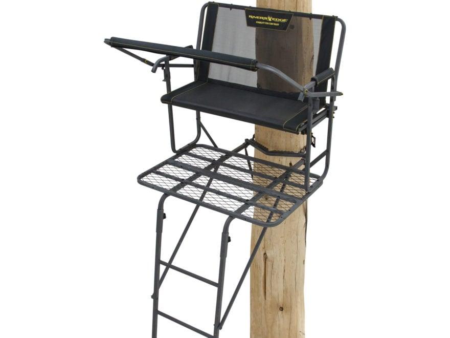 Rivers Edge SCYT Double Ladder Treestand Steel Black