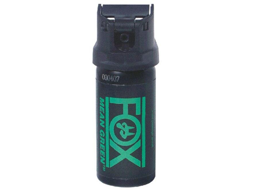 Fox Labs Mean Green Pepper Spray Aerosol Flip Top 6% OC and Dye Black