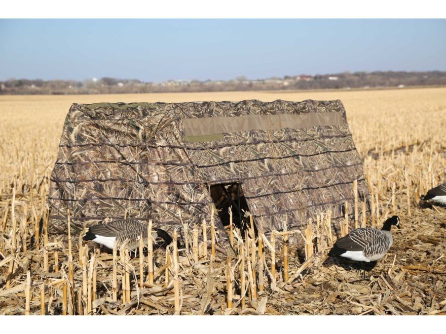 Dakota Decoy X-Series 4 Man X-Pandable Field Blind Polyester Realtree Max-5 Camo