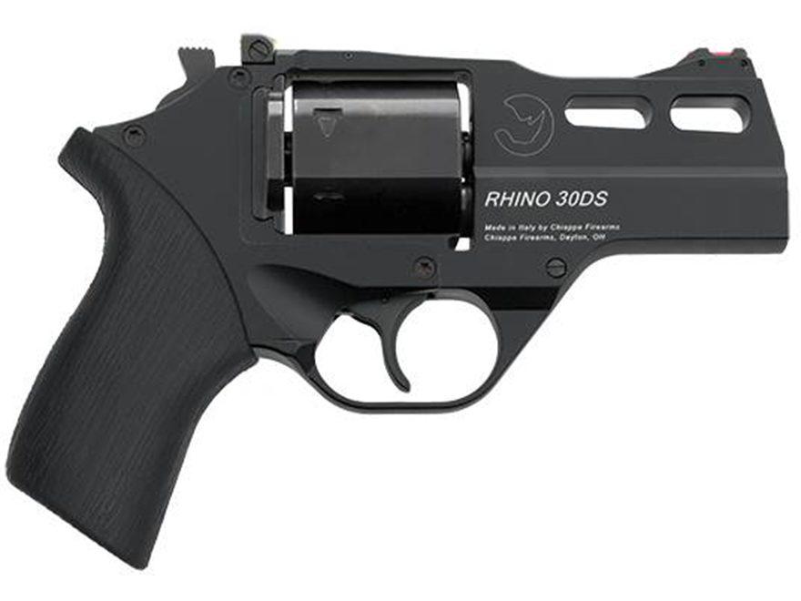 """Chiappa Rhino 30DS Revolver 357 Magnum 3"""" Barrel 6-Round Black, Rubber"""