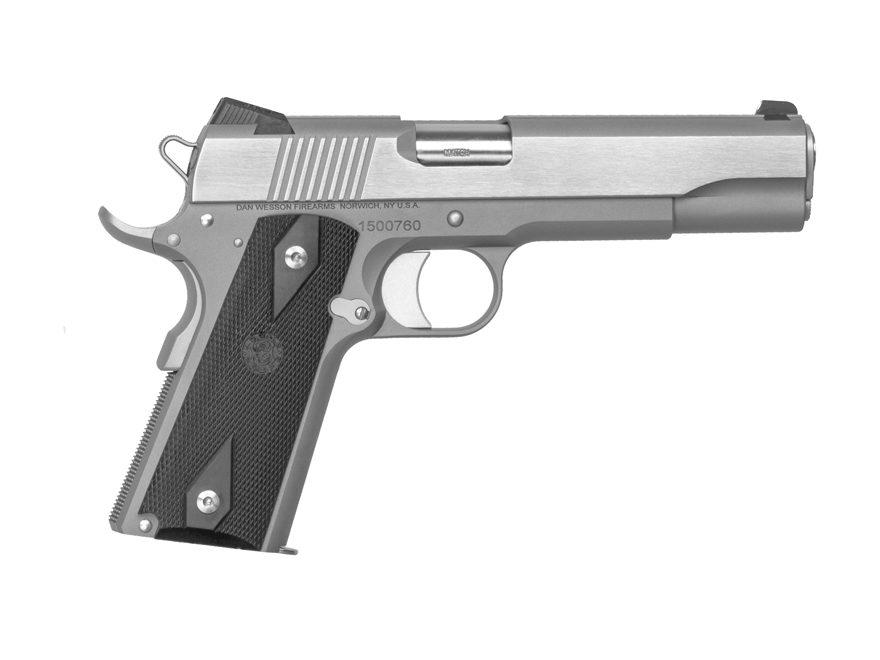 "CZ Dan Wesson 1911 RZ-45 Heritage Pistol 45 ACP 5"" Barrel 8-Round Stainless Steel Doubl..."