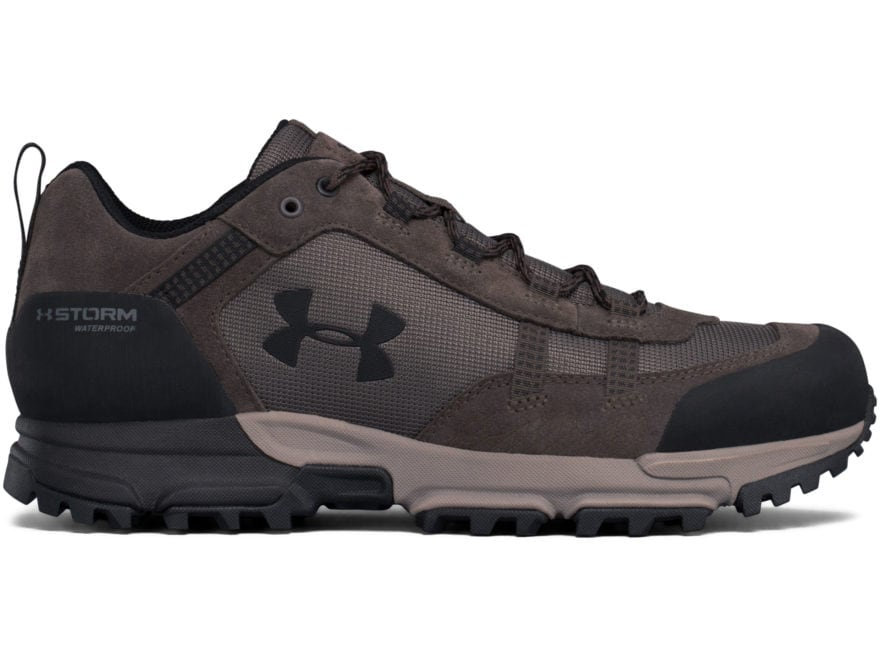 "Under Armour UA Post Canyon Low 4"" Waterproof Hiking Shoes Synthetic Maverick Brown Men..."