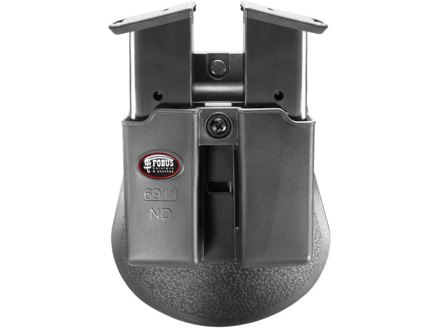 Fobus Paddle Double Magazine Pouch Single-Stack Ambidextrous Kimber Micro  9, Solo, Sig Sauer P225, P239, P938, Ruger LC9 Polymer Black