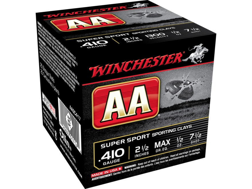 "Winchester AA Super Sport Sporting Clays Ammunition 410 Bore 2-1/2"" 1/2 oz"