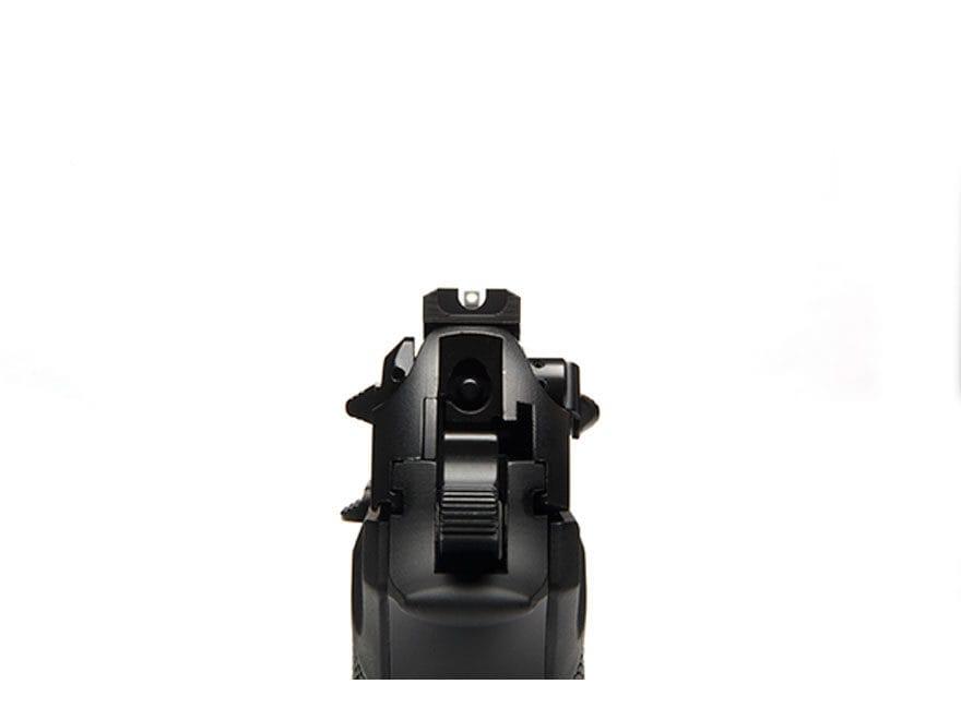"""Wilson Combat Battlesight Rear Sight Serrated Blade Beretta 92FS, 96FS .270"""" Steel Black"""