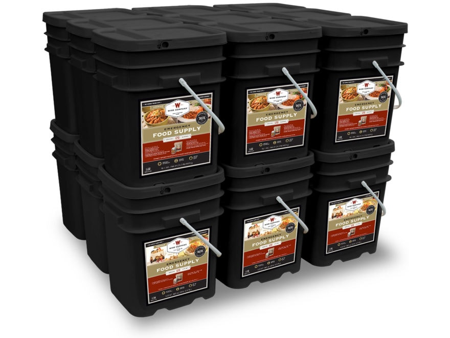 Wise Company 2160 Serving Vegetarian Entree and Breakfast Freeze Dried Food Kit
