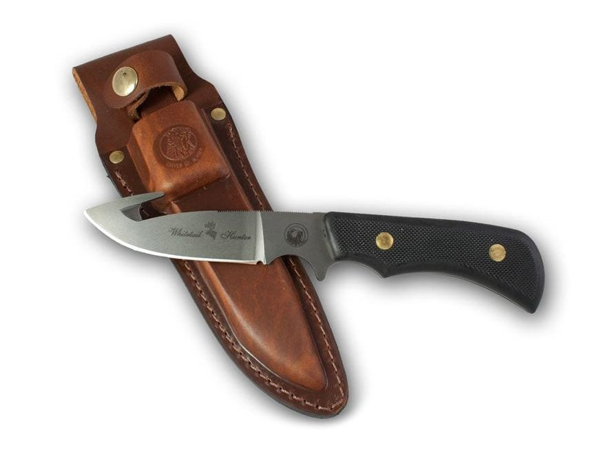"Knives of Alaska Trekker Whitetail Hunter Fixed Blade Knife 3.25"" Drop Point/Gut Hook D..."