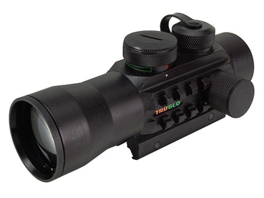 TRUGLO Xtreme Red Dot Sight 42mm 2x Red and Green 4-Pattern Reticle (10 MOA Dot, Crossh...