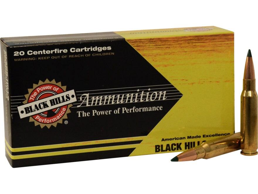 Black Hills Gold Ammunition 308 Winchester 175 Grain Sierra Tipped MatchKing (TMK) Box ...