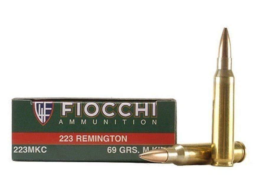 Fiocchi Exacta Ammunition 223 Remington 69 Grain Sierra MatchKing Hollow Point Box of 20