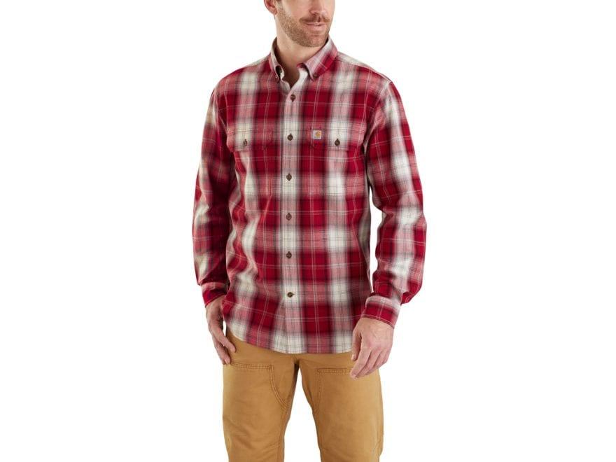 Carhartt Men's Fort Plaid Button-Up Shirt Long Sleeve Cotton