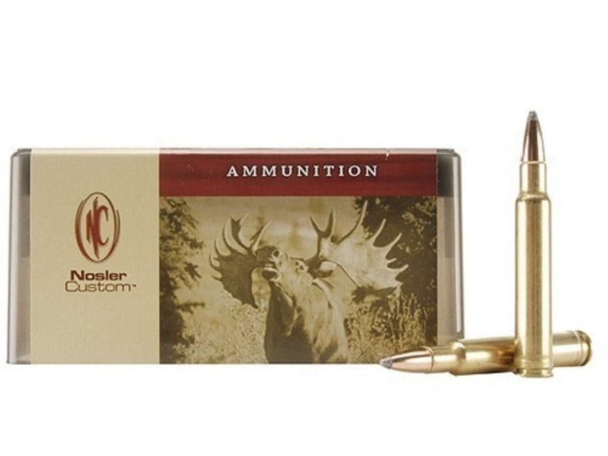 Nosler Custom Ammunition 340 Weatherby Magnum 225 Grain Partition Spitzer Box of 20
