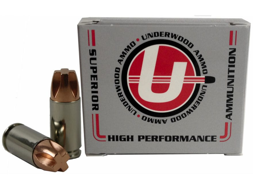 Underwood Ammunition 9mm Luger +P+ 115 Grain Lehigh Xtreme Penetrator Lead-Free Box of 20