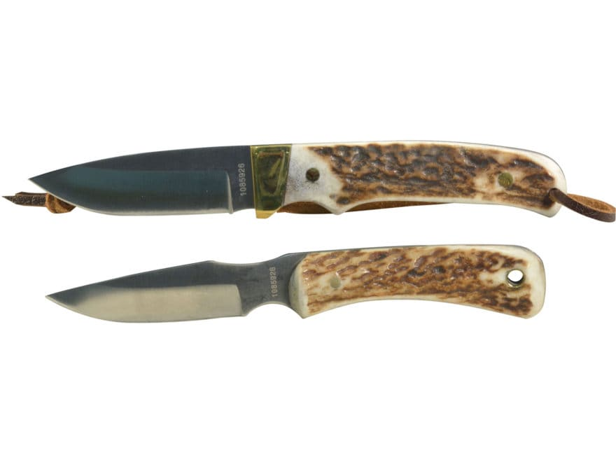 Uncle Henry 301UH/PH2N Fixed Blade Knife Combo D2 Steel Blades Stag Handles