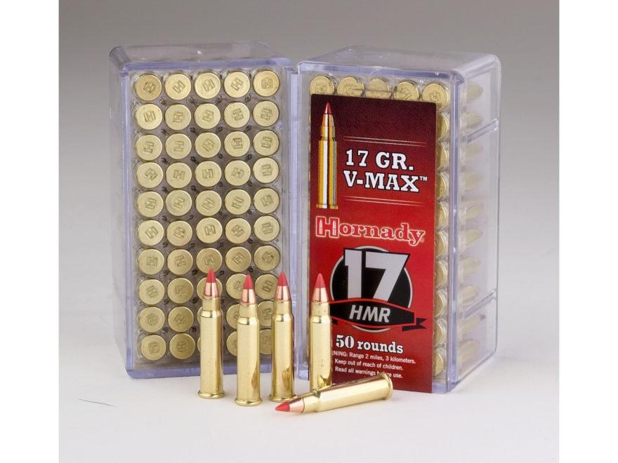 Hornady Varmint Express Ammunition 17 Hornady Magnum Rimfire (HMR) 17 Grain V-MAX