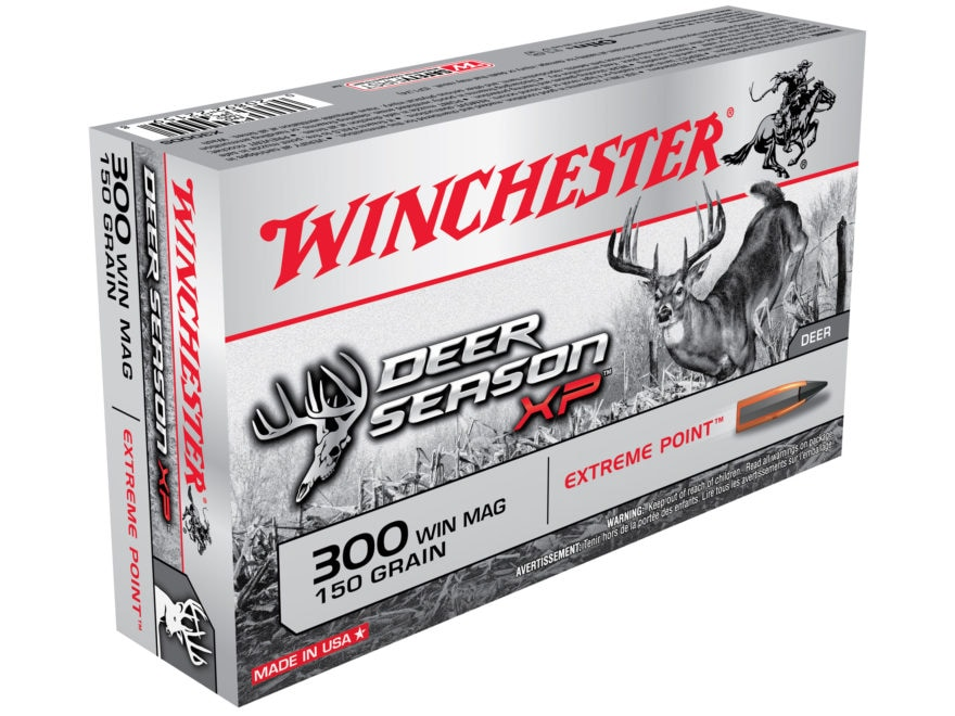 Winchester Deer Season XP Ammunition 300 Winchester Magnum 150 Grain Extreme Point Poly...