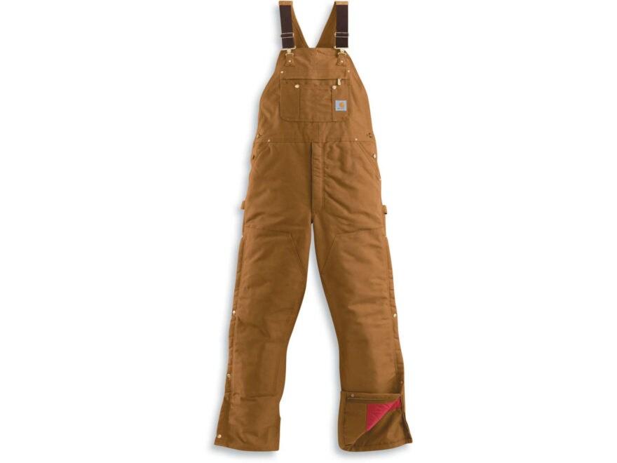 Carhartt Men's Quilt Lined Zip-to-Thigh Bib Overalls Cotton