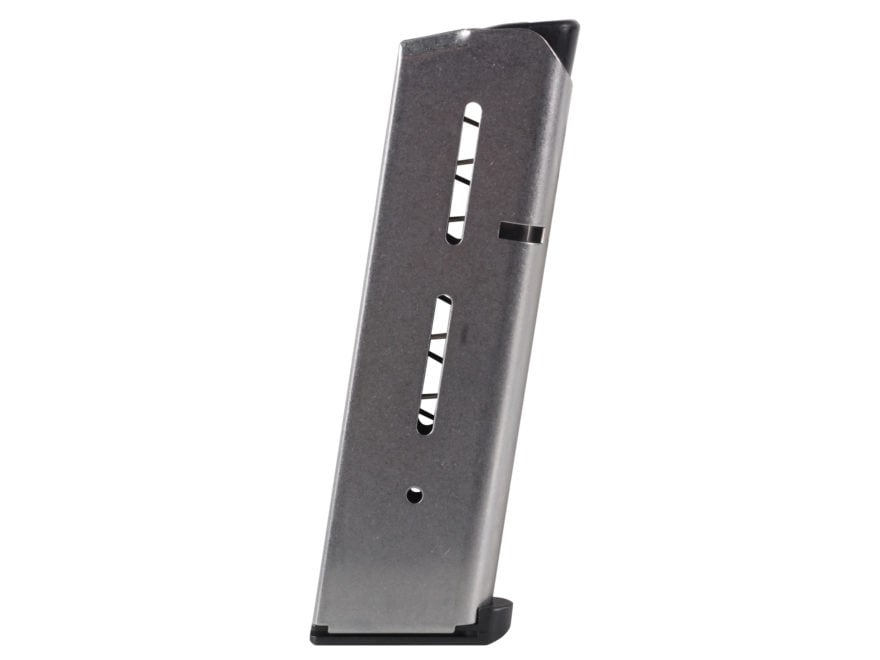 Wilson Combat Magazine 47 Series with Low Profile Steel Base Pad 1911 Government, Comma...