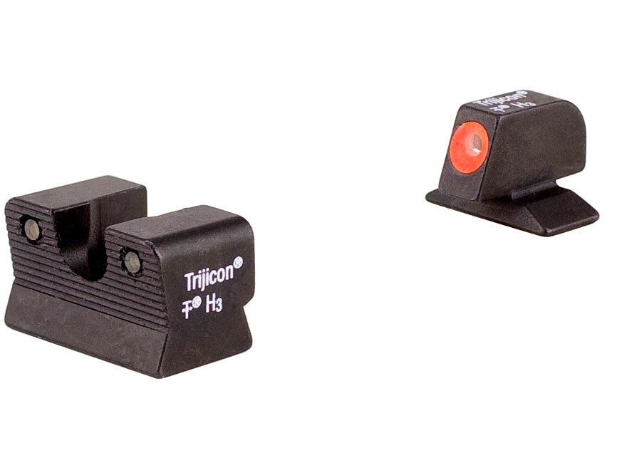Trijicon HD Night Sight Set Beretta 92A1, 96A1 Steel Matte 3-Dot Tritium Green with Fro...