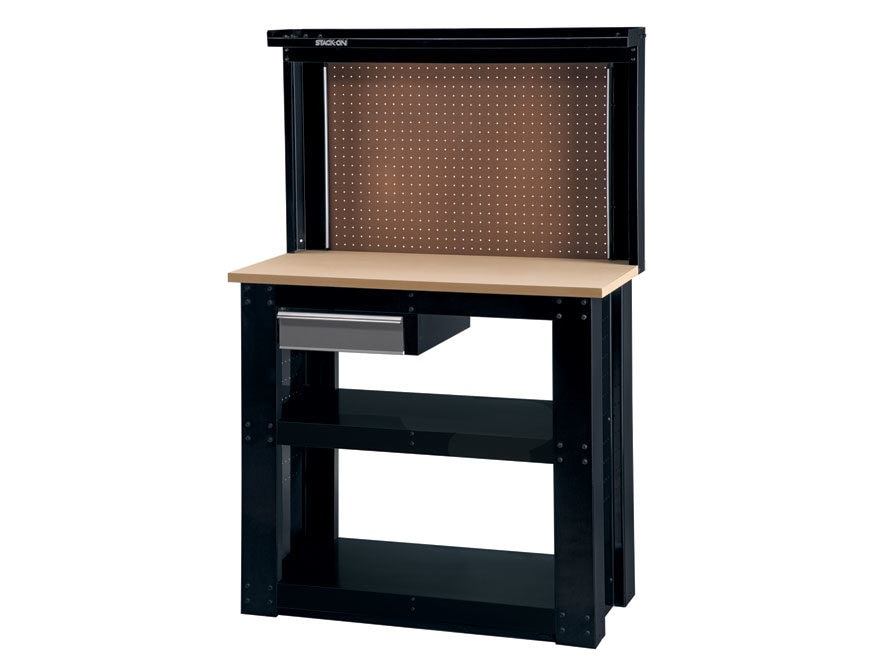 Stack On 1 Drawer Reloading Bench 20 X 40 Top Pegboard Mpn Wb 402