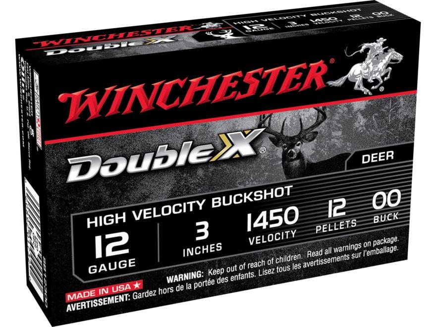 """Winchester Double X Ammunition 12 Gauge 3"""" Buffered 00 Copper Plated Buckshot 12 Pellets"""