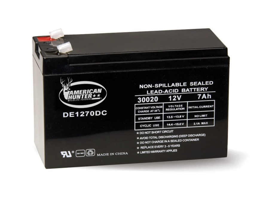 American Hunter Rechargeable Battery 30020 12 Volt Lead Acid 7 mAH