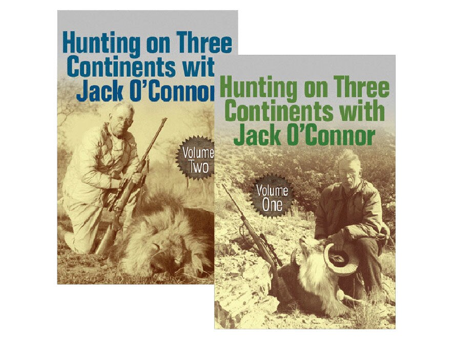 """Hunting on Three Continents with Jack O'Connor: 2 Volume Set"" by Jack O'Connor"