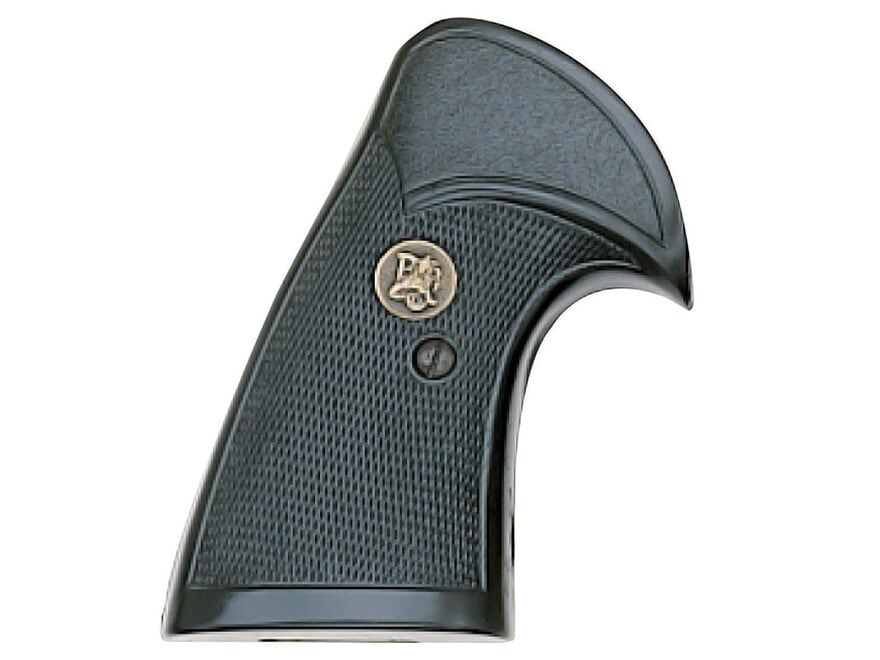 Pachmayr Compac Grips S&W N-Frame Round Butt Rubber Black