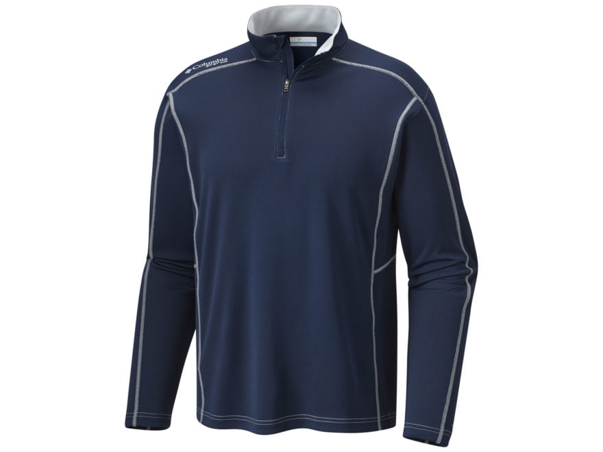 Columbia Men's PFG Low Drag 1/4 Zip Shirt Long Sleeve Polyester