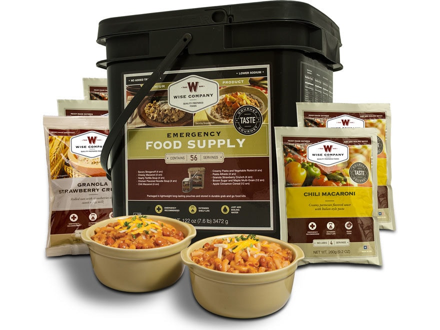 Wise Company Grab N' Go Freeze Dried Food 56 Serving Bucket