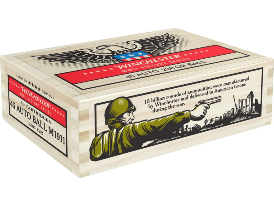 Winchester Limited Edition WWII Victory Series Commemorative Ammunition 45 ACP 230 Grai...