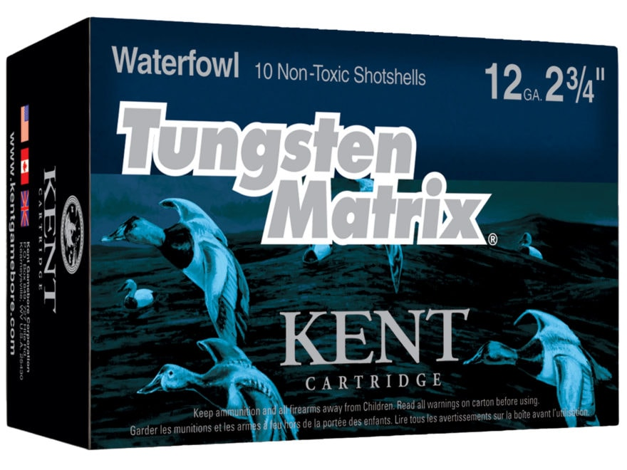 """Kent Cartridge Tungsten Matrix Waterfowl Ammunition 12 Gauge 2-3/4"""" 1-1/4 oz #3 Tungste..."""