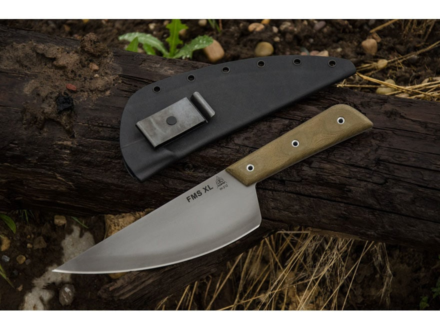 "TOPS Knives FMS Frog Market Special XL Fixed Blade Knife 7.5"" Clip Point 1095 High Carb..."