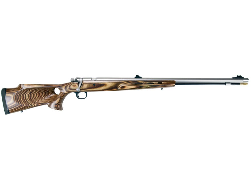 "Knight Mountaineer Full Plastic Jacket Muzzleloading Rifle .50 Caliber 27"" Fluted Stain..."
