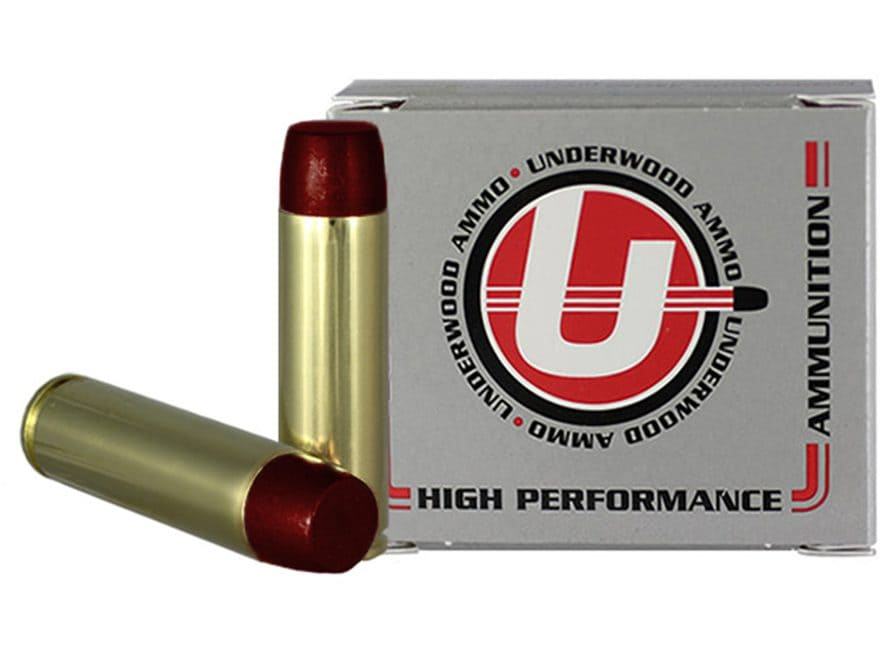 Underwood Ammunition 500 Auto Max 440 Grain Hard Cast Lead Flat Nose Gas Check Box of 20