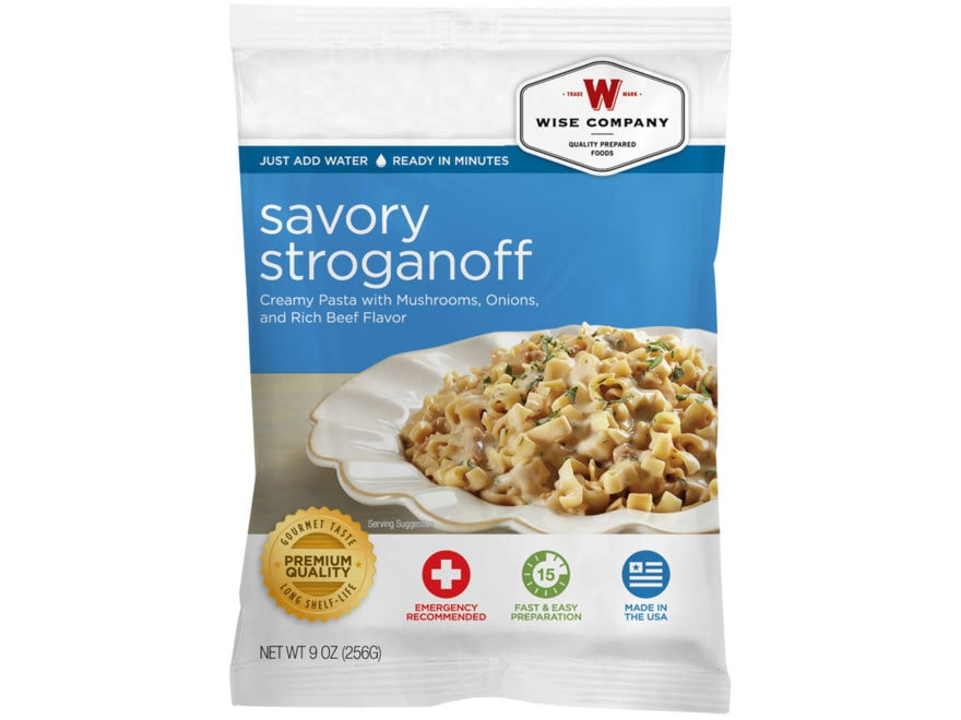 Wise Company Long Term 25 Year 4 Serving Savory Stroganoff Freeze Dried Food