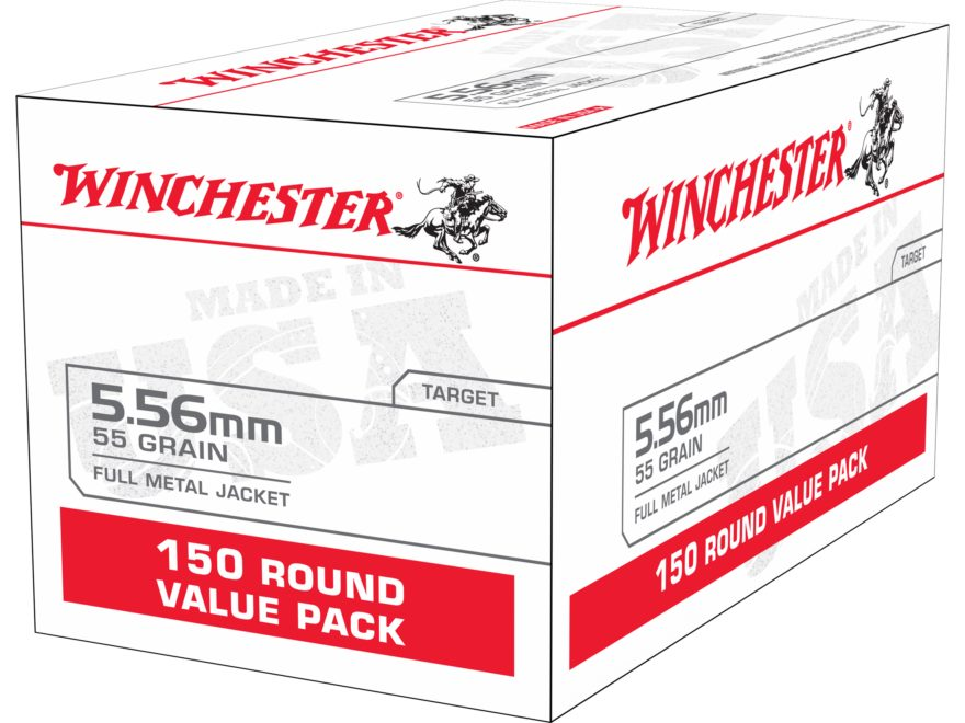 Winchester USA Ammunition 5.56x45mm NATO 55 Grain Full Metal Jacket Value Pack