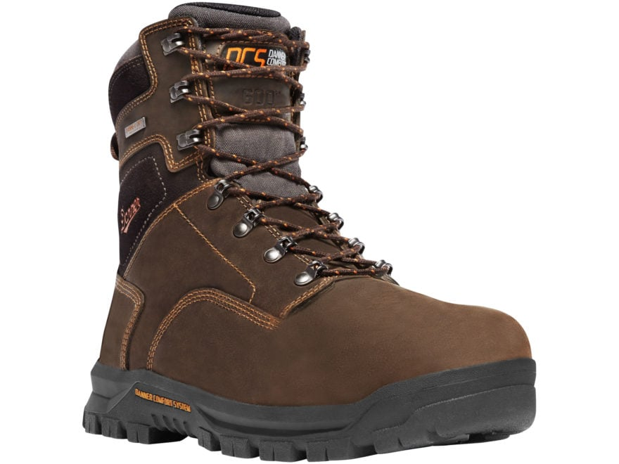 "Danner Crafter 8"" Waterproof 600 Gram Insulated Non-Metallic Toe Work Boots Leather Men's"