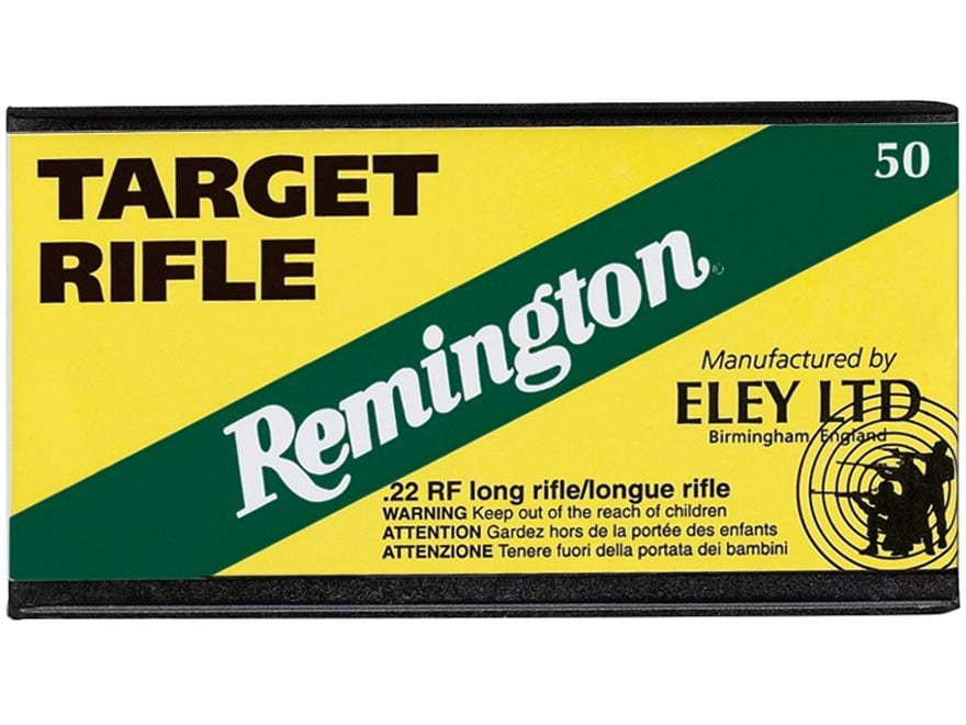Remington Eley Target Ammunition 22 Long Rifle 40 Grain Lead Round Nose Box of 50