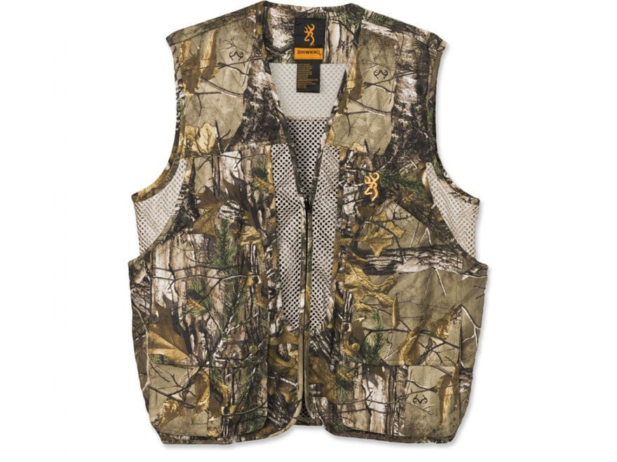 be8476d3497c1 Browning Men's Upland Game Vest Polyester Realtree Xtra Camo Large
