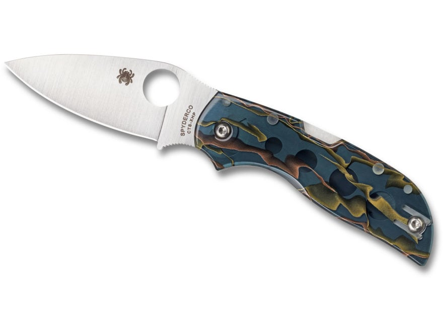 "Spyderco Chaparral Folding Knife 2.8"" CTS-XHP Stainless Steel Blade Raffir Noble Handle"