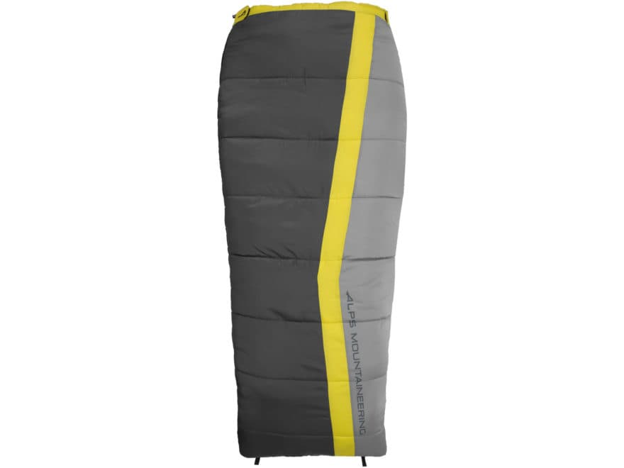 ALPS Mountaineering Drifter Sleeping Bag Polyester Citrus/Coal