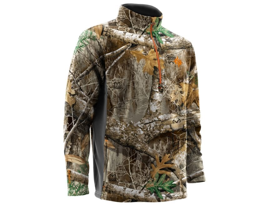 Nomad Men's Southbounder 1/4 Zip Fleece Camo Sweatshirt
