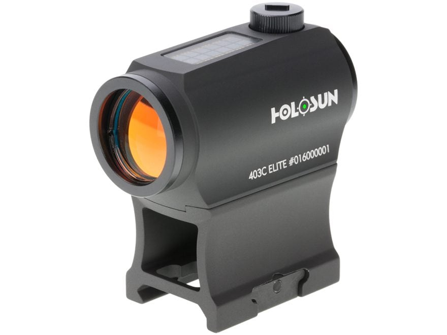 Holosun HE403C-GR Elite Green Dot Sight 1x 2 MOA Dot Night Vision Compatible Weaver-Sty...