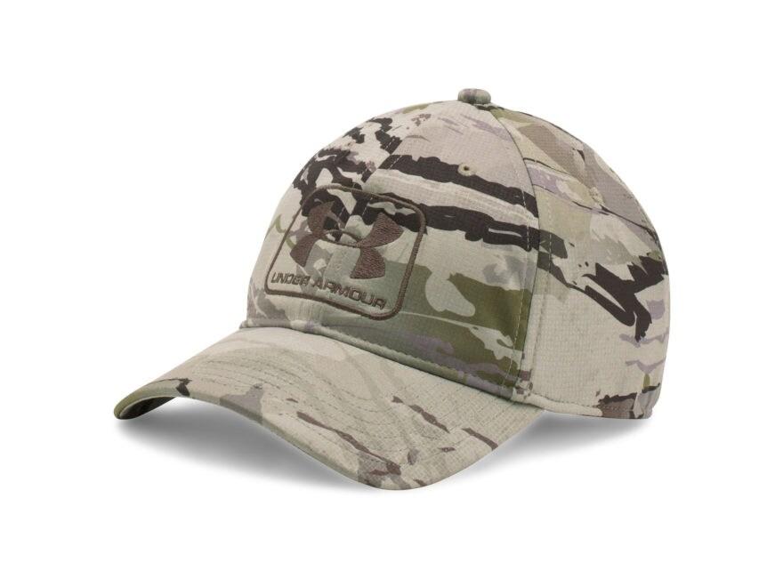419fa947eb8 Under Armour UA Camo Stretch Fit Cap Polyester. Alternate Image  Alternate  Image