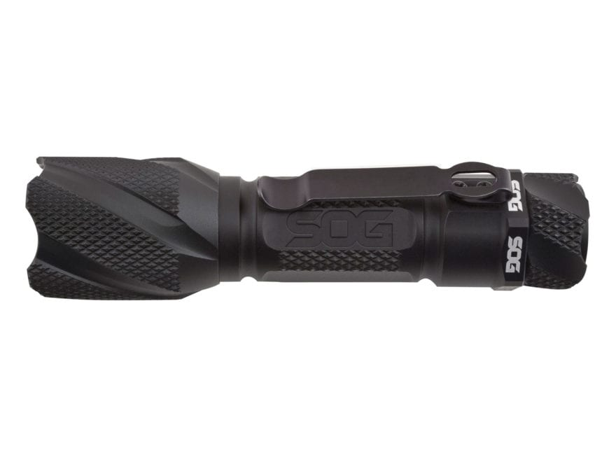 SOG Dark Energy 120A Flashlight LED with 1 AA Battery Aluminum Black