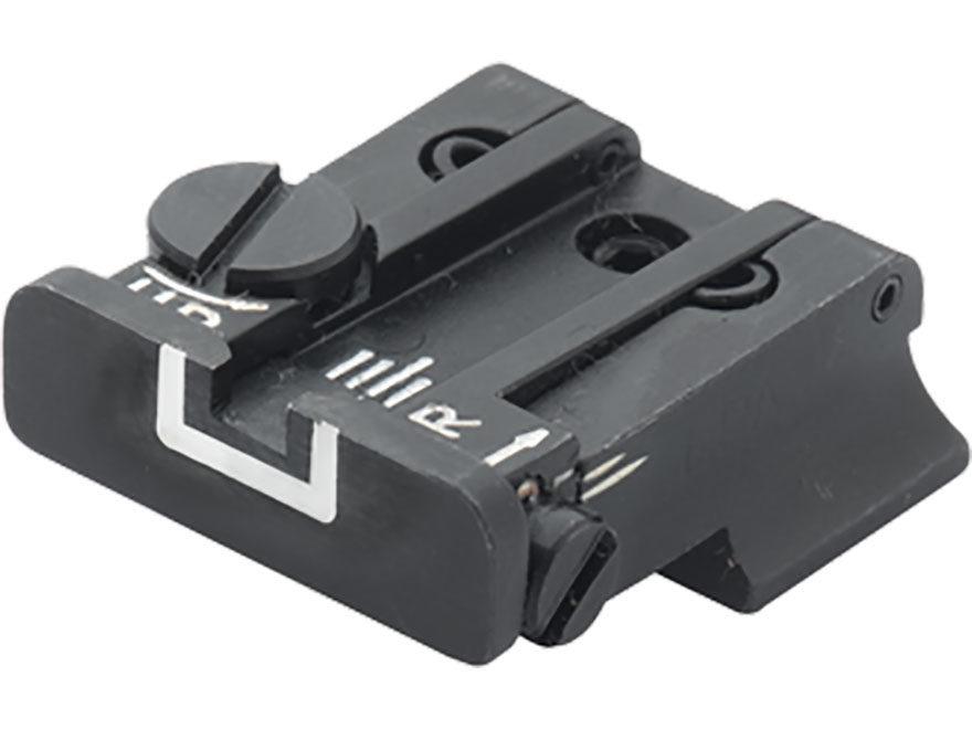 LPA TPU Adjustable Rear Sight S&W SW99, Walther PPQ Classic, PPQ M2, P99 Steel White Ou...