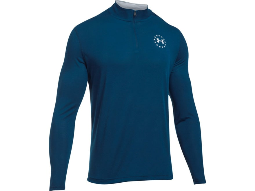 Under Armour Men's UA Freedom Threadborne 1/4 Zip Shirt Long Sleeve Polyester