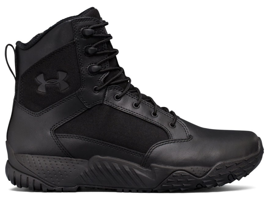 "Under Armour UA Stellar 8"" Side Zip Tactical Boots Leather and Nylon Men's"