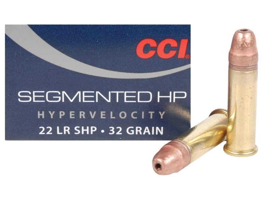 CCI Quik-Shok Ammunition 22 Long Rifle 32 Grain Plated Lead Hollow Point